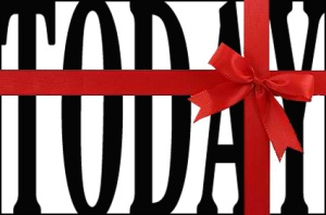 bow today a present graphic copy copy